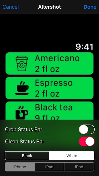 Editing watchOS screenshot in Photos Extension.
