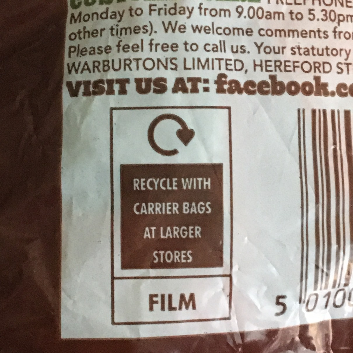 Recycle with carrier bags at larger stores logo