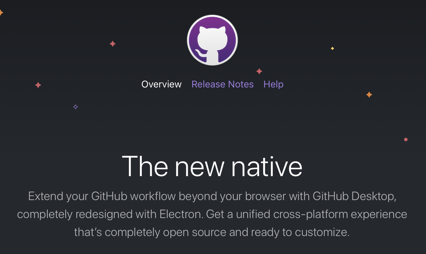 Website presents new version of GitHub Desktop
