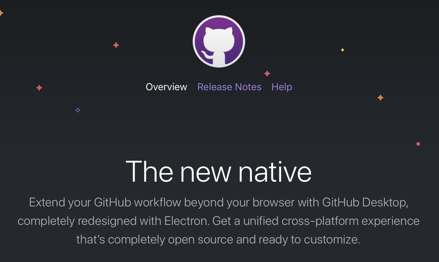 Website presents new version of GitHub Desktop