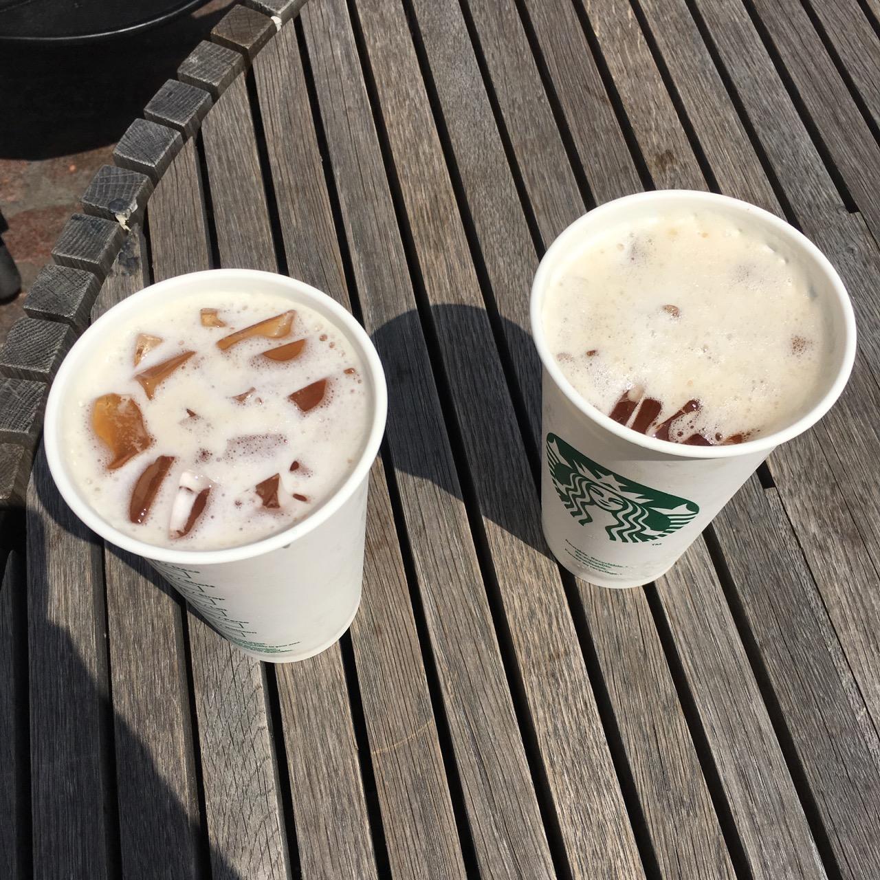 2 Starbucks plastic cups