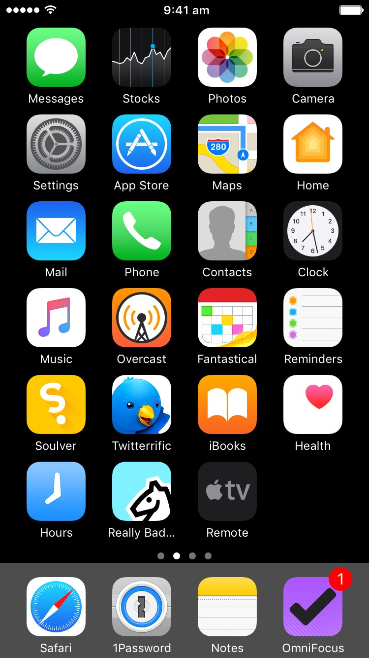 My iPhone Home Screen.